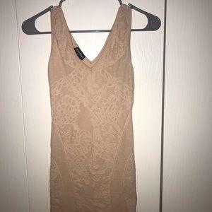 Nude/pink BEBE dress